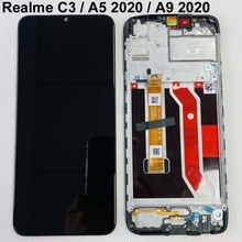 """Original For OPPO Realme C3 RMX2027 LCD Display Touch Screen Digitizer Assembly Oppo a5 2020 LCD For Phone 6.5"""" Realme C3 LCD"""