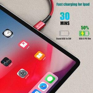 "Image 5 - TIEGEM USB C כדי USB C כבל טעינה מהירה טעינה מהירה 4.0 3.0 USB C כבל לסמסונג גלקסי הערה 10 s9 פ""ד 60W 3A עבור macbook"