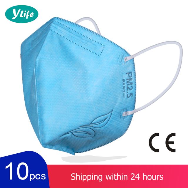 10 PCS KN95 Face Mask Facial Masks Flu Dust Masks Mouth Caps Respirator Masks Reusable Anti Dust Pm 2.5 Mask