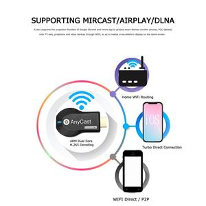 Image 4 - Anycast M2 زائد HDMI جهاز استقبال للتليفزيون دعم Miracast البث DLNA 2.4G اللاسلكية جهاز دونجل للعرض مزود بخاصية WiFi استقبال ل IOS الروبوت