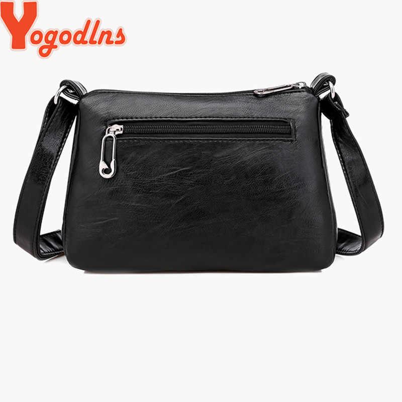 Yogodlns дизайнерская женская сумка через плечо мягкая сумка через плечо из искусственной кожи хорошего качества сумка-мессенджер женские сумки