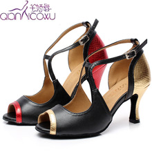 2020 Salsa Jazz Ballroom Latin Dance Shoes For Dancing Women Czech Women Tap High Heels Open Toe 6132 Pumps Pumps robespiere casual women pumps quality genuine leather strange style low heels shoes concise pointed toe shallow ladies pumps a18