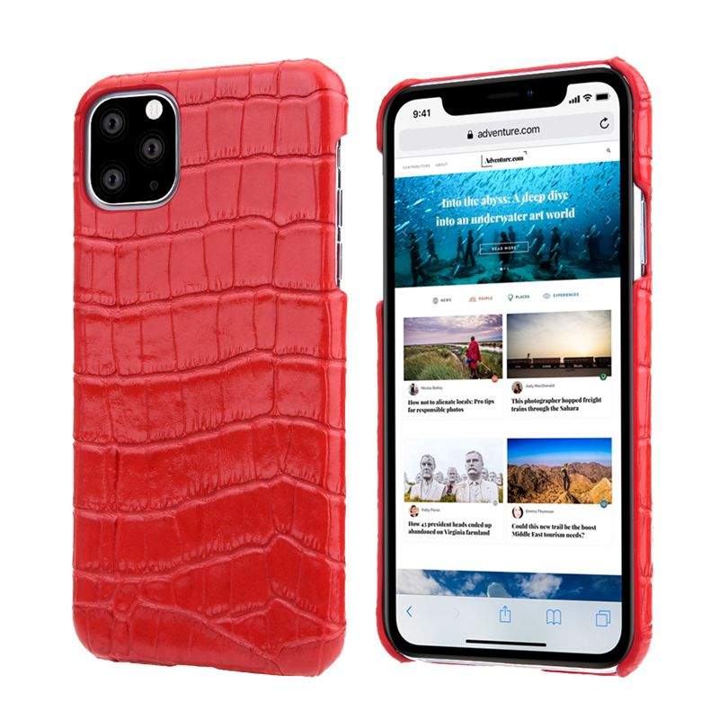 Luxury Genuine Cow Leather Case For iPhone 12 Mini