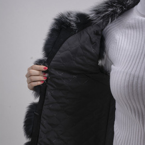 Image 5 - QIUCHEN PJ8046 אמיתי שועל פרווה נשים חורף אפוד עבה 70cm ארוך אפוד O צוואר נשים אופנה אפוד באיכות גבוהה אמיתי פרווה אפוד מכירה לוהטת