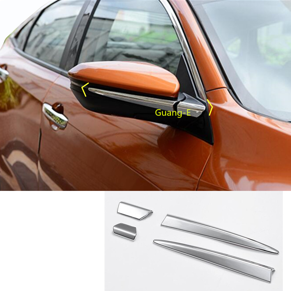 2PCS Stainless Rearview Mirror Decorative Trim For Chevrolet Malibu 2016-2018