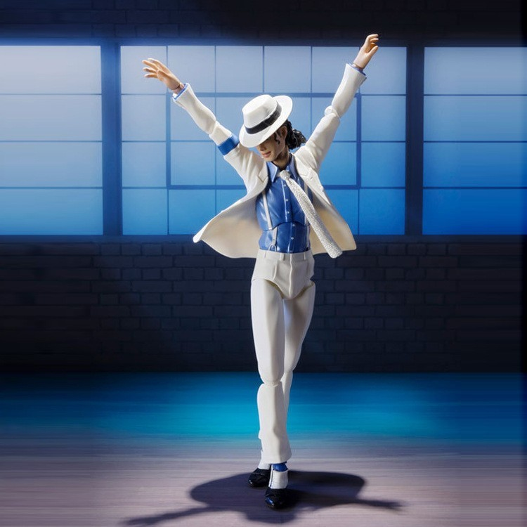 Male God Michl SHF Michael Jackson Smooth Criminal Moonwalk Anti-gravity Action Figure Model Toy Doll Garage Kit Decoration
