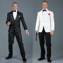 цена на AFS A014 1/6 James Bond 007 Royal Secret Agent Service Dress Set Costume for 12inch Action Figure Cosplay Doll DIY
