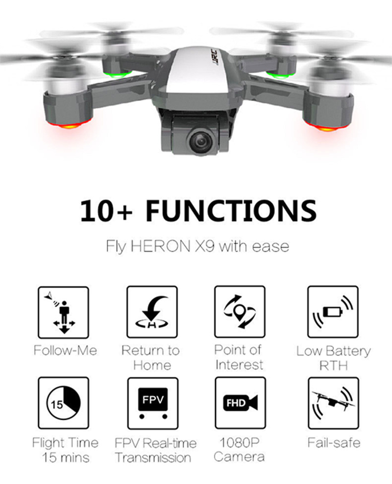 Jjrc X9 Heron Aerial Photography Quadcopter 5G Two Axes Augmentation Cradle Head G Ps Brushless Remote-controlled Unmanned Vehic