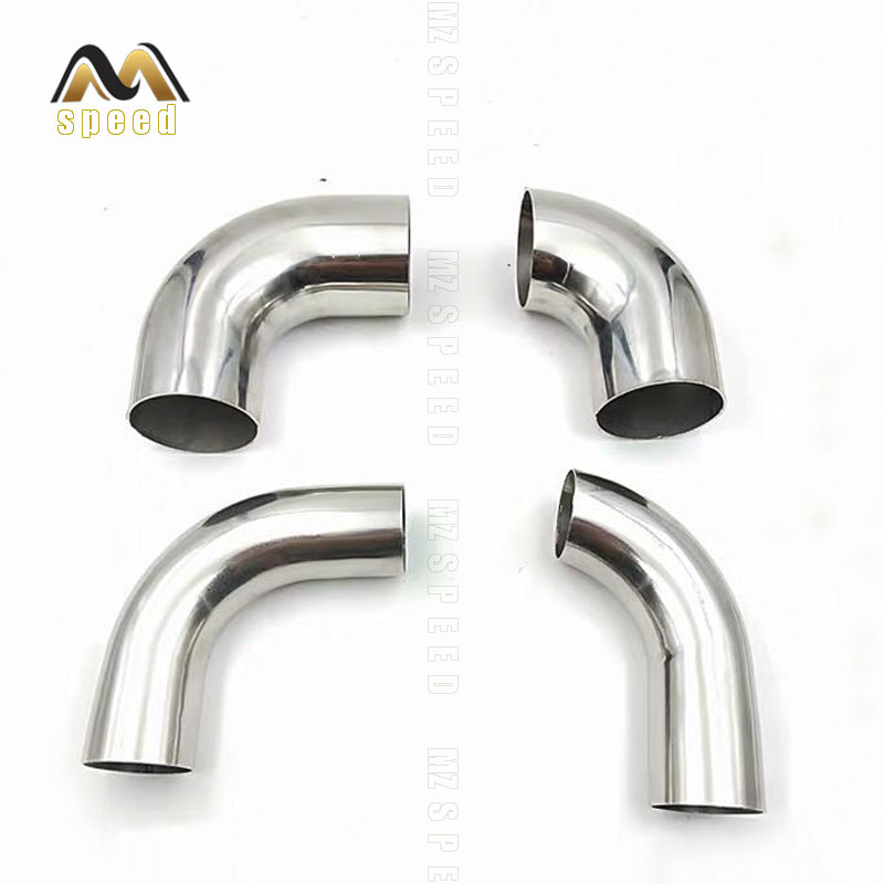 1PCS car accessories Automobile exhaust pipe muffler turns into stainless steel elbow 90 degree Angle pipe to reduce diameter