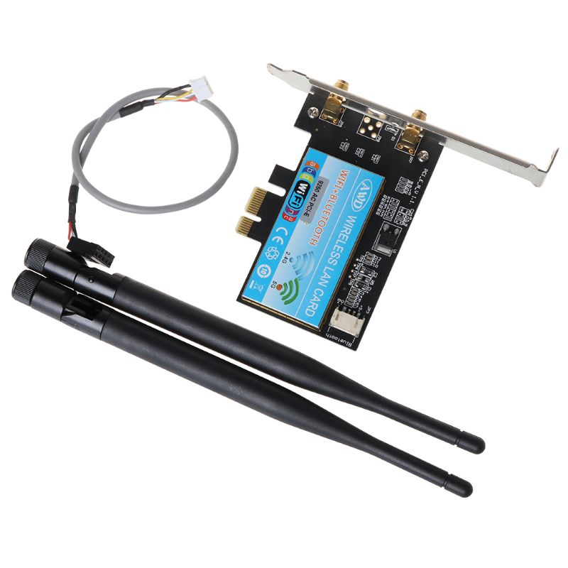 Desktop PC Dual Band PCI-E 2.4G-300M//5G-867M Bluetooth 4.0 Wireless-AC Wifi Card
