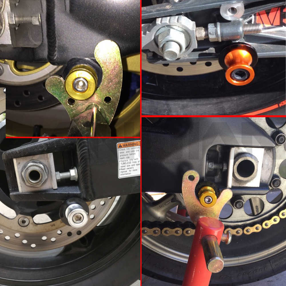 8MM dla BMW R1200GS 2006 2007 2008 (2006-2014) 2007 2011 suwaki wahacza motocykla szpule Paddock stojak szpule ramię wahadłowe