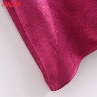 Tangada Women's Party Dress Satin Midi Dress Strap Adjust Sleeveless 2021 Fashion Lady Elegant Dresses QN42 5