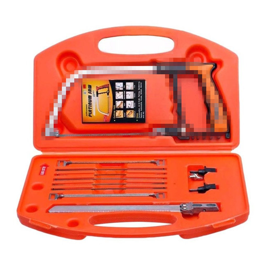 Multi-Function 12 In 1 Magic Hand Saw Diy Metal Wood Glass Kit Blades Model Multi Purpose Hobby Portable Hacksaw Set