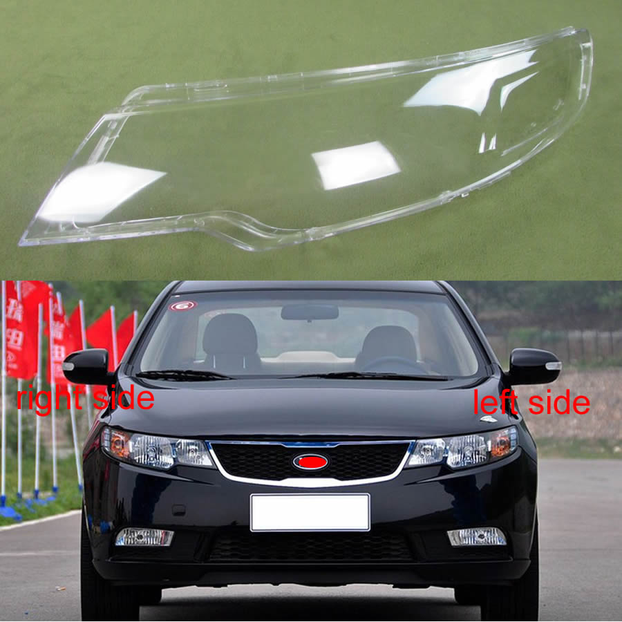 Transparent Lampshade Lamp Shade Front Headlight Shell Headlight Cover Glass Lens For Kia Cerato/Forte  2009 2010 2011 2012 2013
