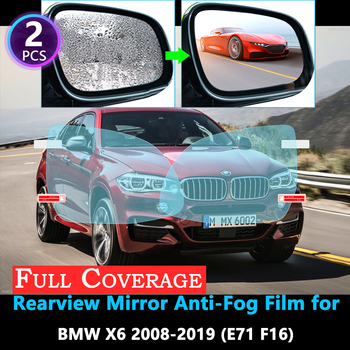 Full Cover Protective Film for BMW X6 E71 F16 2008~2019 Car Rearview Mirror Rainproof Anti-Fog film Accessories 2016 2017 2018 image