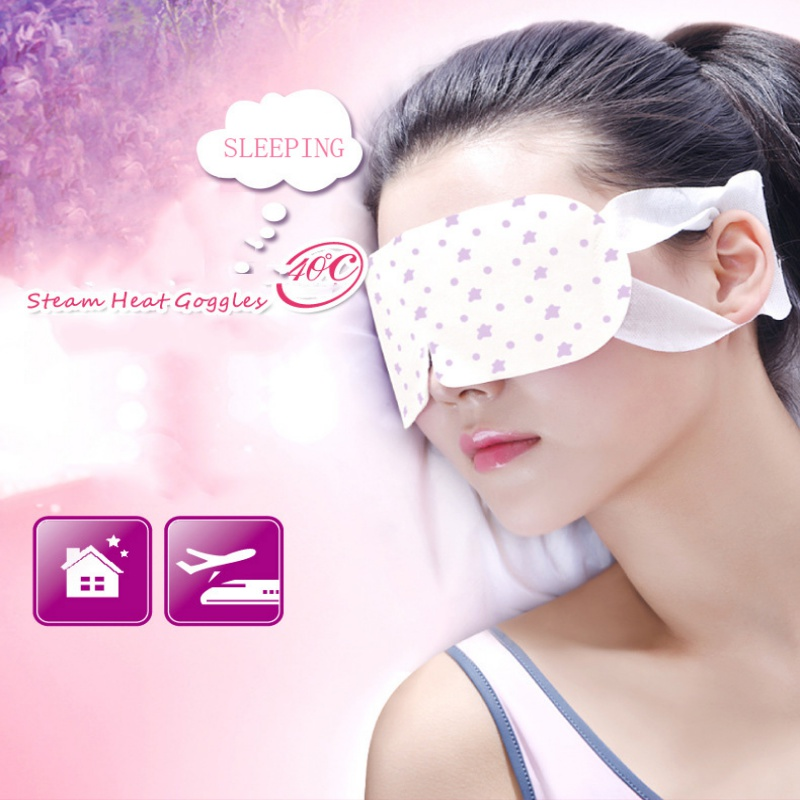 Warm Eyes Mask Heat Relieve Eyes Tiredness Headache Steam Eye Pad HOT