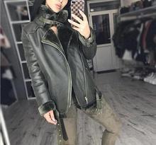 Leather Winter Coat Female