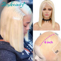 Rosabeauty HD Transparen 613 Ombre Blonde 13x6 Lace Front Human Hair Wigs Brazilian Short Bob Straight Remy Frontal Wig