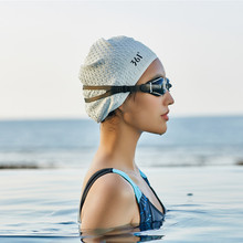 361 Swimming Caps for Women Long Hair Ear Protection Large Men Swimming Cap for Pool Professional Silicone Swim Hat Waterproof retro floral swimming cap hair protection gear bathing caps for women ladies to keep hair dry