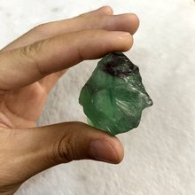 Продажа 1 шт необработанный зеленый флюорит камень Натуральный