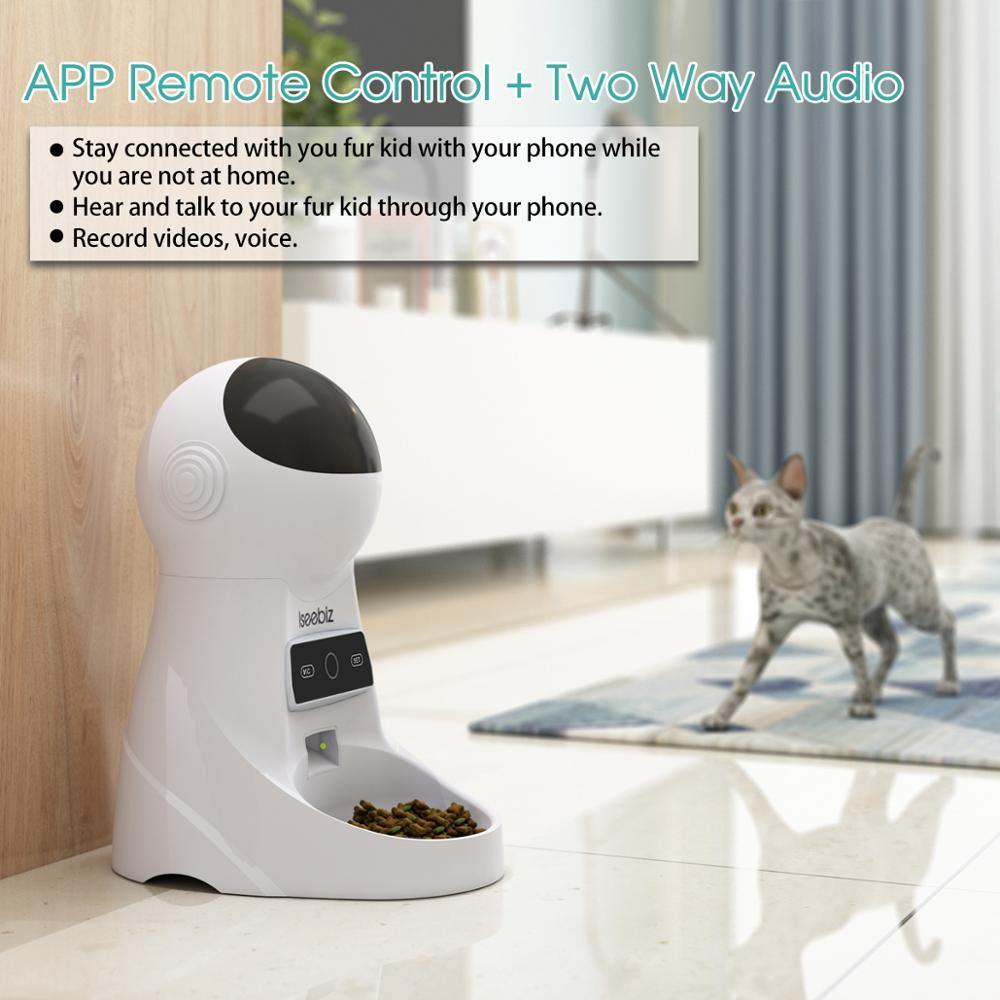 Iseebiz Automatische Katze Feeder Pet Feeder 3L Lebensmittel Spender für Mittlere und Große Katzen Hunde mit Wi Fi Programmierbare Recorder-in Hund füttern aus Heim und Garten bei  Gruppe 3