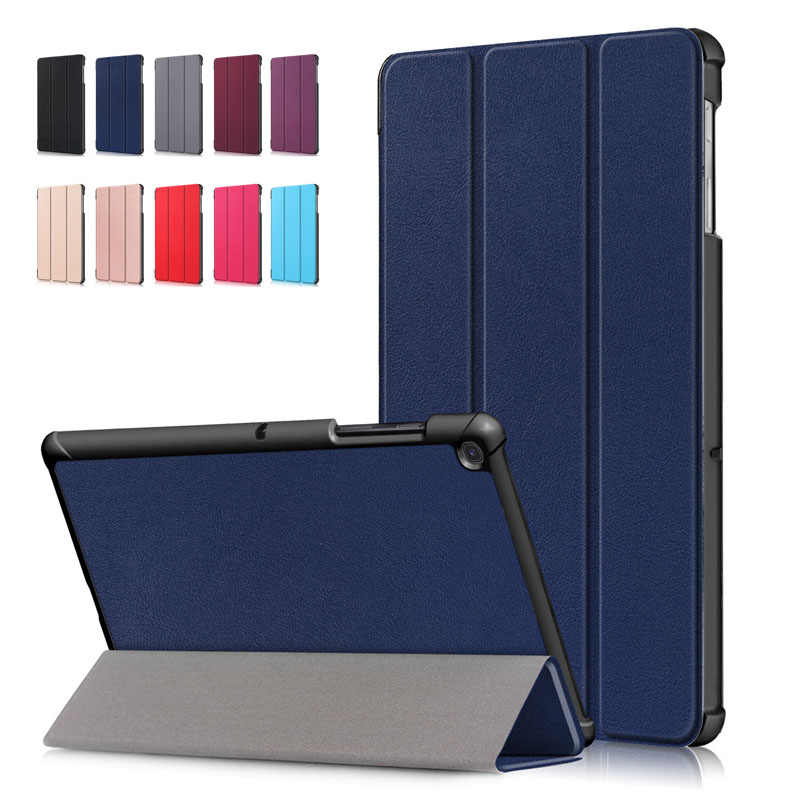 Untuk Samsung Tab S5e 10.5 Inci Tablet Case Tri-fold PU Kulit Flip Folding Stand Cover untuk Samsung Galaxy tab S5e 10.5 T720 T725
