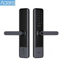 Aqara fechadura inteligente n200, trava de porta com senha bluetooth e bluetooth, desbloqueio nfc, funciona com mijia homekit miband, novo, 2020