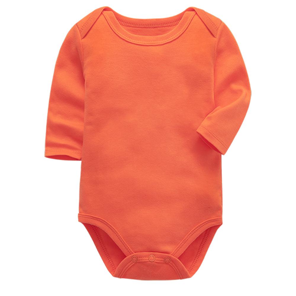 Autumn winter baby girls bodysuit newborn boys long sleeve solid 100%cotton 0 24 months baby clothes