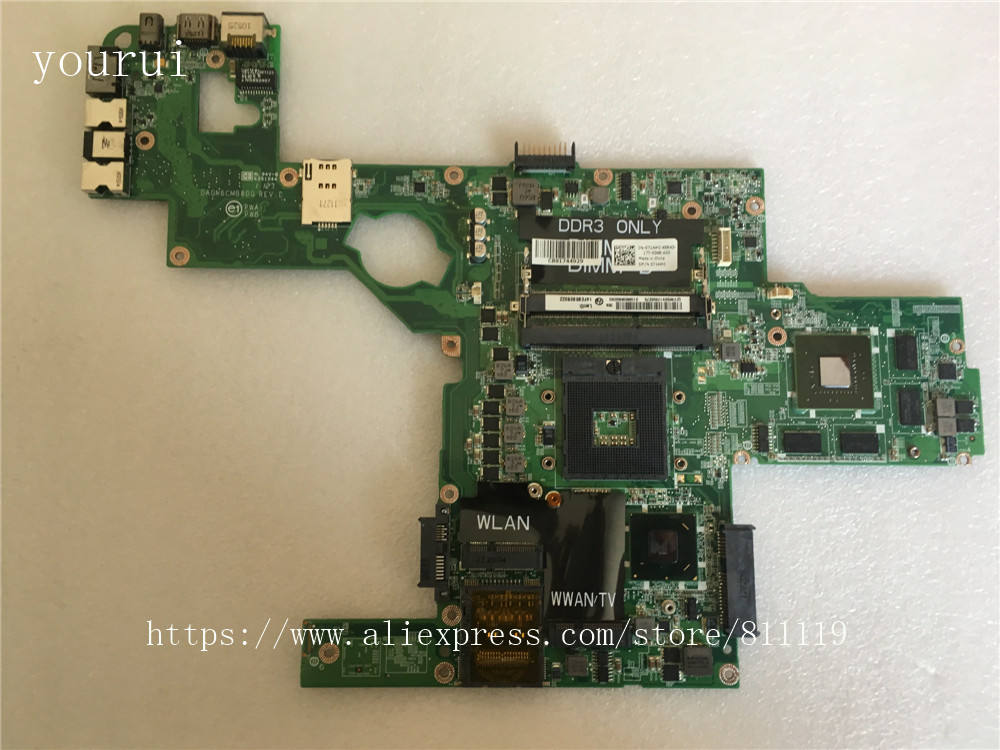 Материнская плата yourui для Dell XPS L502X, материнская плата laptopматеринская плата для Dell, 0714WC, 714WC, DAGM6CMB8D0, DDR3, тестирование, идеальная работа