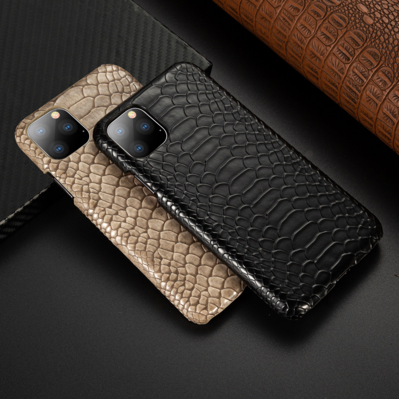 Snake Skin PU <font><b>Leather</b></font> Cover for <font><b>iPhone</b></font> 11 pro 6 6s Plus 7 7Plus 8 8Plus X XR XS Max Phone <font><b>Case</b></font> Crocodile Texture Coque Fundas image