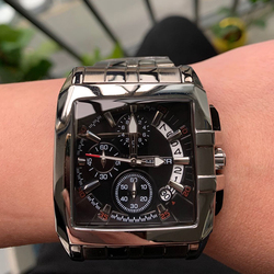 Real Photo!!!!! MEGIR Men's Watches Luxury Top Brand Creative Business Stainless Steel Quartz Wristwatches Men Relogio Masculino