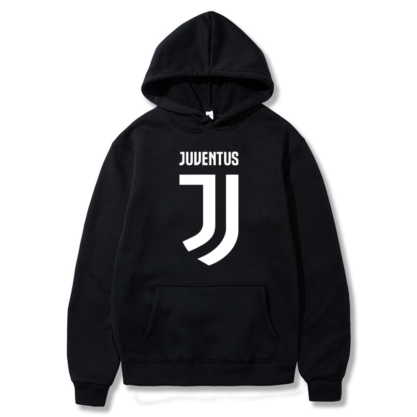 Hot Selling Juventus Hoodie Men Fashion Hoodie Casual Loose-Fit Sweater
