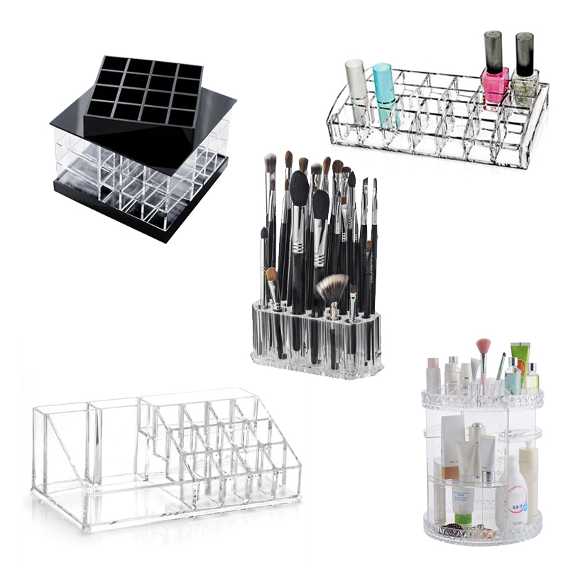 24 Grid Acryl Make Up Lagerung Halter Make-Up <font><b>Organizer</b></font> <font><b>Storage</b></font> Box Cosmetic Box Lippenstift Schmuck Box Fall Halter Display Stand image