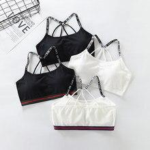 4 pçs/lote meninas roupa interior de algodão topos para adolescentes meninas treinamento sutiãs macio sutiã em acolchoado crianças meninas adolescentes roupas