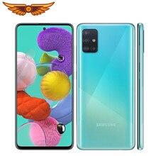 Orijinal Samsung Galaxy A51 Octa çekirdek 6.5 inç 4GB RAM 128GB ROM 48MP dört arka kamera Android smartphone Unlocked cep telefonu