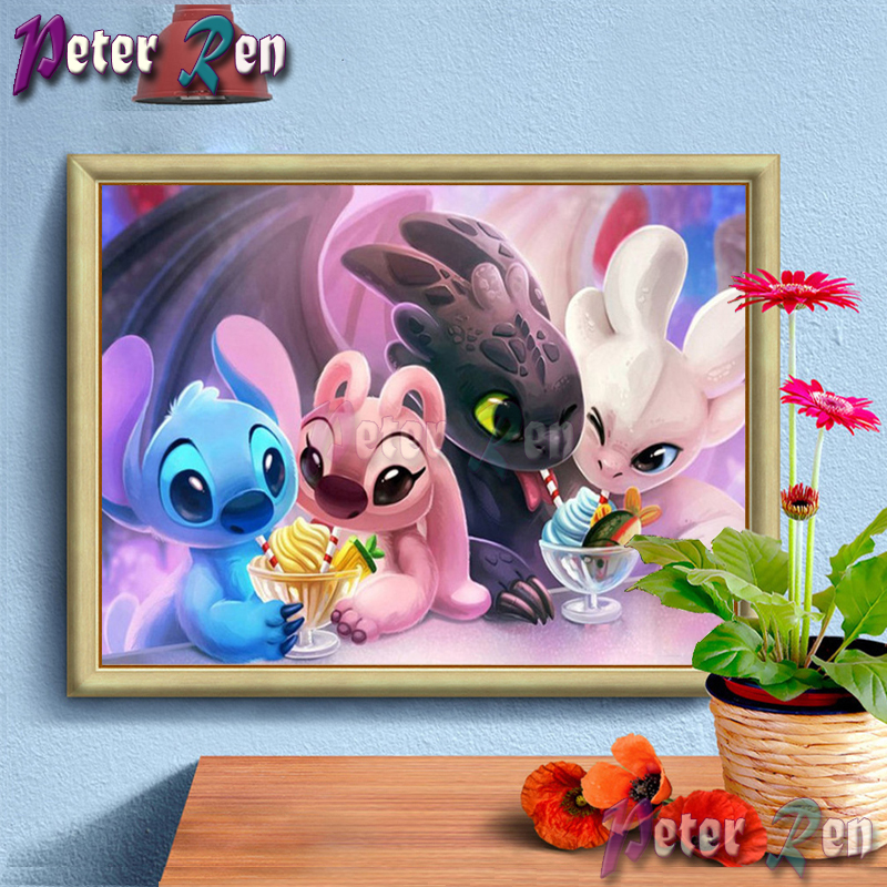 5d Eating ice cream without teeth Diamond Painting Embroidery DIY full Square/round Mosaic Picture Rhinestone Children's gift