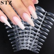 STZ-construcción rápida molde para uñas, cubierta completa, acrílico, uñas postizas, formas duales, extensión de dedos, Gel, herramientas #1020-1