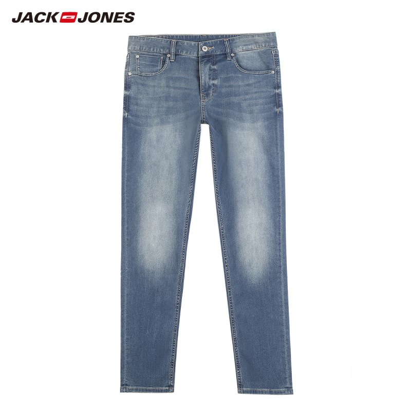 JackJones мужские эластичные мужские джинсы хлопковые джинсовые широкие брюки подходят брюки бренд Мужская одежда 219132584 - Цвет: 586-Slim