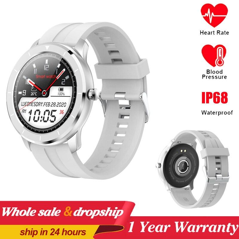 Plein écran tactile montre intelligente hommes femmes personnalisé moniteur de fréquence cardiaque Message rappel santé Sport Tracker Smartwatch PK DT78 L7 L9