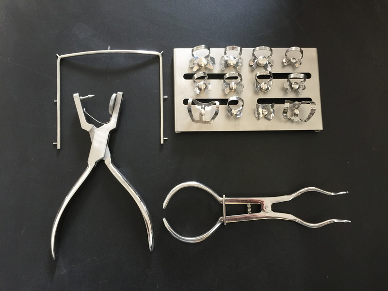 Dental Dam Perforator Hole Puncher Set Rubber Dam Mouth Gap Mouth Opener Pure Latex Dental Dam Rubber Dam Template Dentist Tools