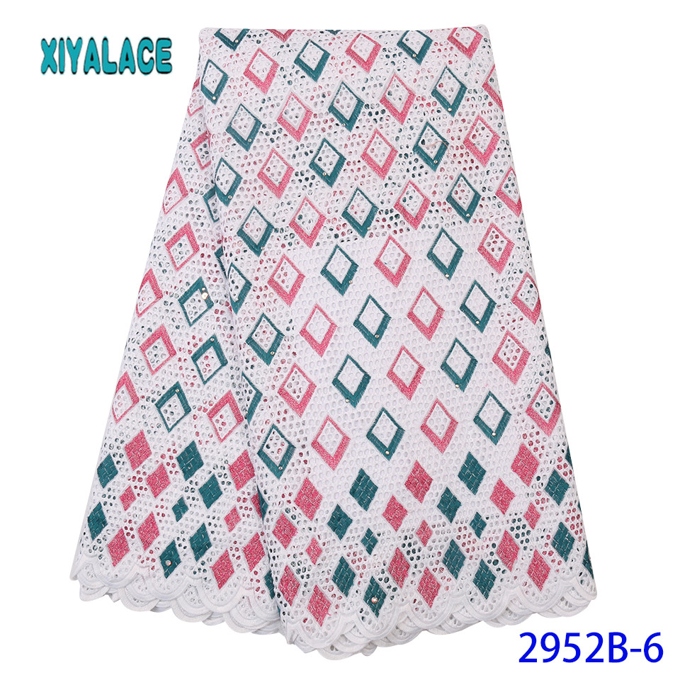 Latest Red Green Color African Lace Fabric 2019 High Quality French Tulle Lace Swiss Lace Fabric For Woman Dresses YA2952B-6