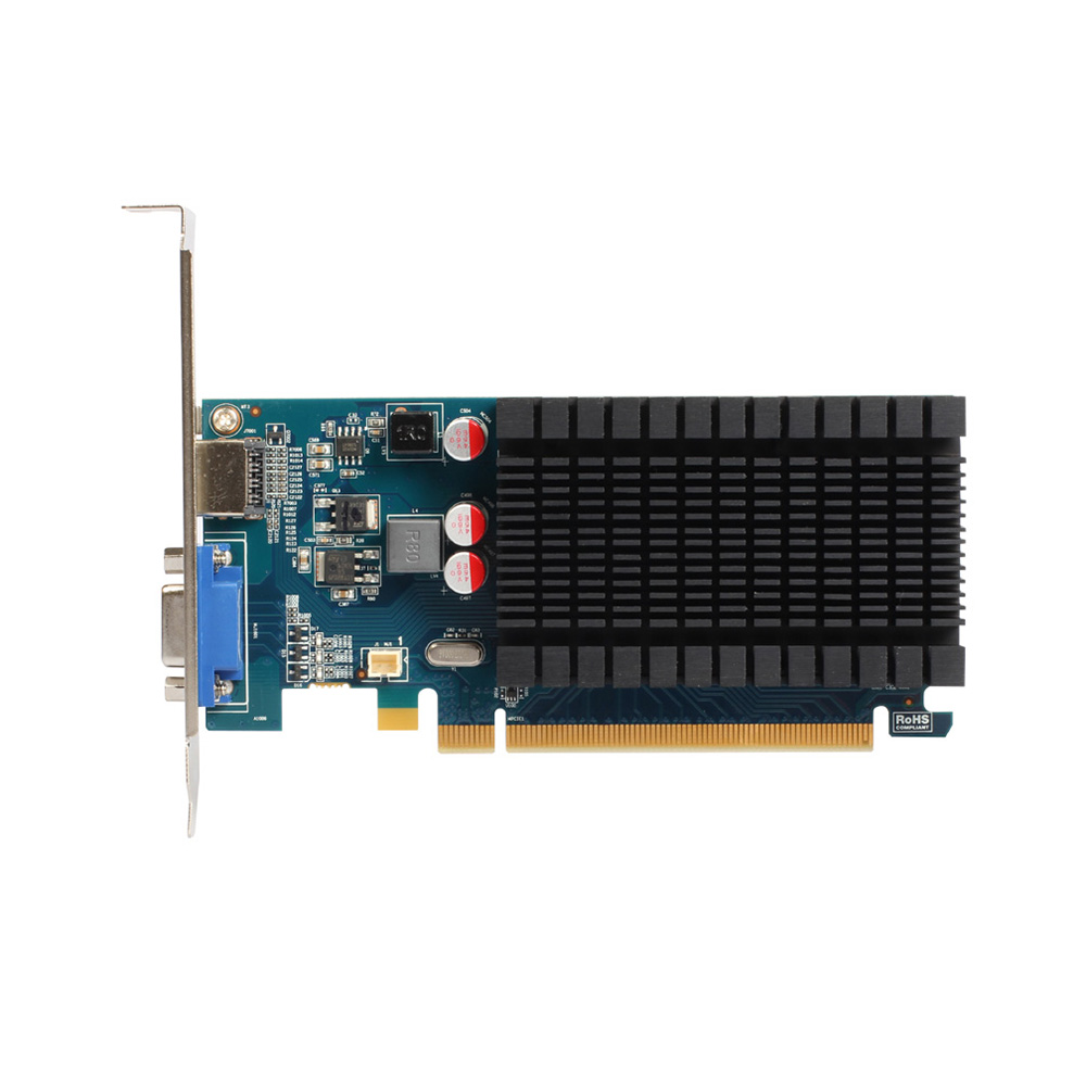 Yeston R5 230 1G D3 VD Graphics Cards 625MHz <font><b>1GB</b></font>/64BIT/GDDR3 Half Height HD VGA Low Power Consumption <font><b>GPU</b></font> image