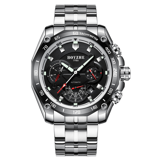 Men's mechanical Casual Stainless steel watch 5