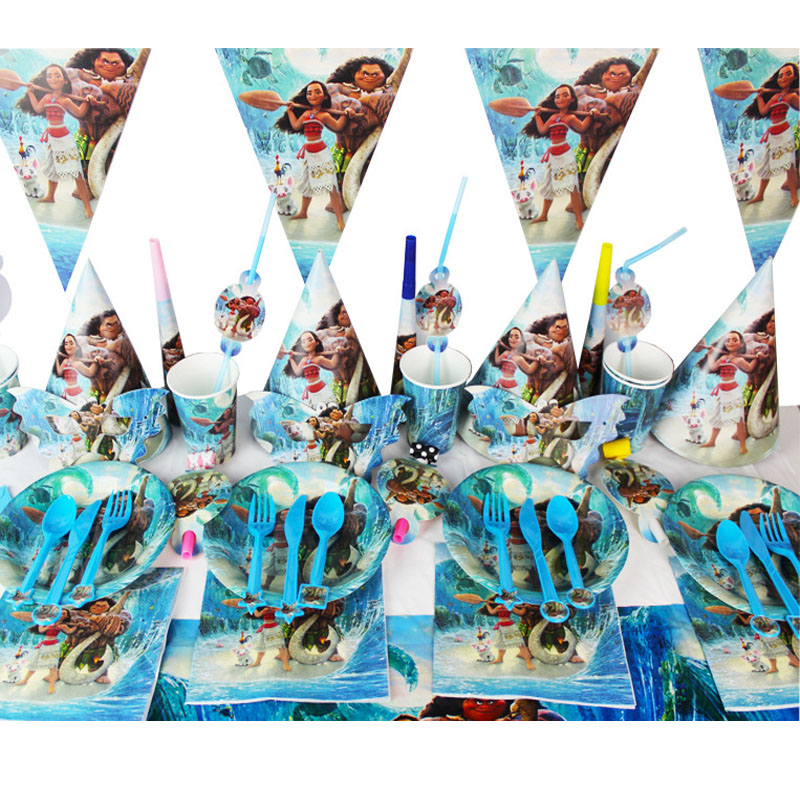 1PC 260x108CM Disney Moana Princess Theme Party Tablecloth Birthday Party Decorations Kids Favor Birthday Party Decorations