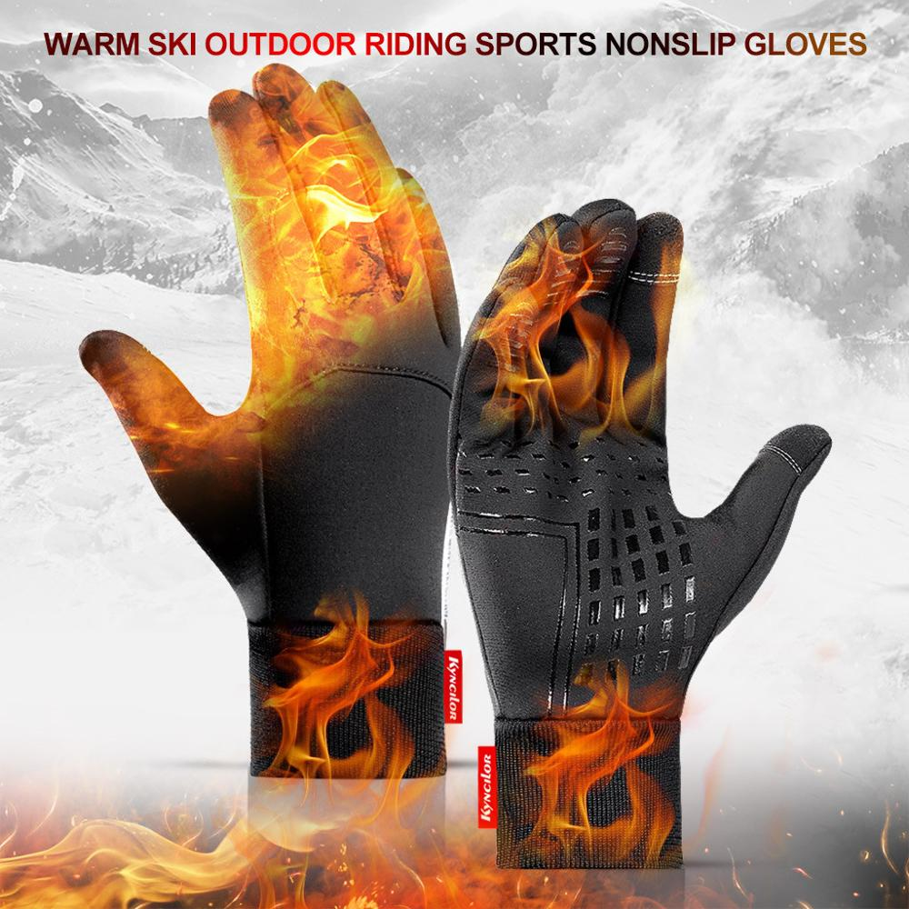 Winter Waterproof Gloves Warm Windproof Gloves Unisex Sports Touch Screen Bicycle Riding Ski Gloves Fever Gloves 20N6