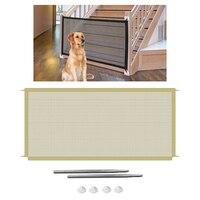 Hund Tor Mesh Welpen Zaun Tür Für Indoor und Outdoor Sicherheit Haustier Hund Tor, 2 Größen für Wahl