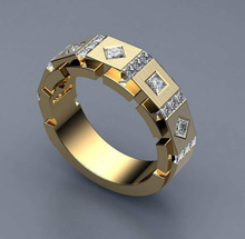Fashion Classic Gold White Zircon Wedding Ring Simple Wedding Band Engagement Ring Accessories Valentine's Day Jewelry Gifts