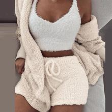 Misswim Sexy Knit Two piece set Autumn short jumpsuit & romper Women Skinny warm