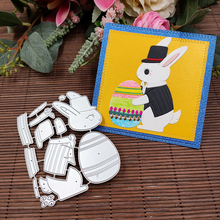 Easter Scrapbooking Cutting-Dies Embossing Paper-Cards-Making Bunny Rabbit