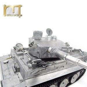 Image 5 - MATO 1220 100% Metal 2.4G zbiornik RC 1 16 niemiecki tygrys 1 podczerwieni bitwa odrzutu baryłkę BB pistolety do Airsoft gotowy do uruchomienia VS Tamiya